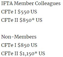 CFTe Fees 2020