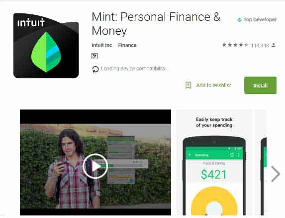 Financial Planning Apps - mint
