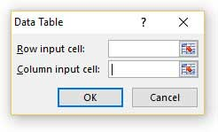 Data Table Dialog Box