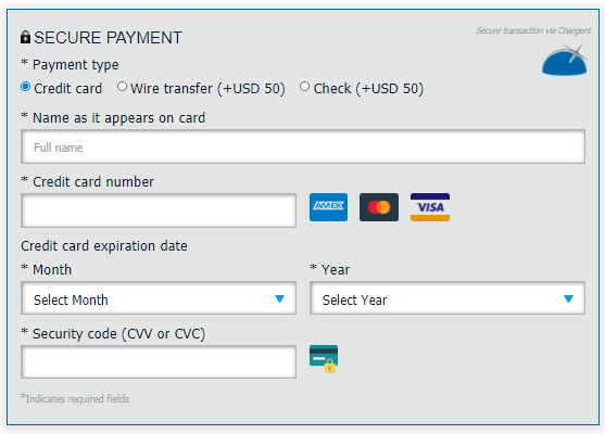 FRM Exam 2021 payment details