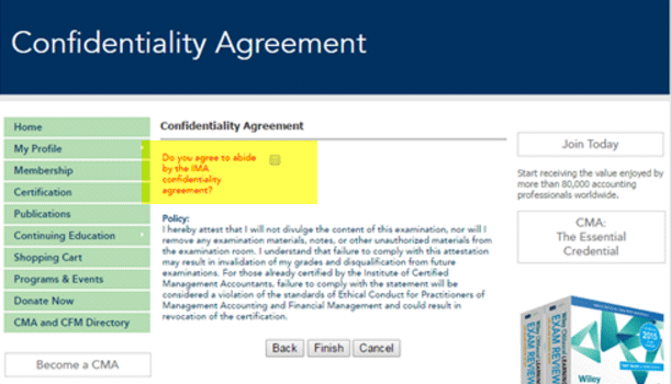 IMA Confidentiality Agreement