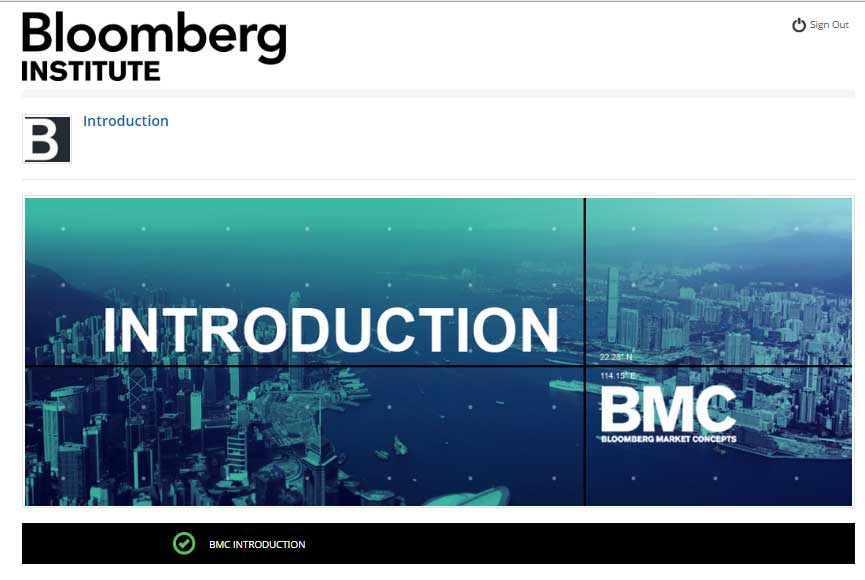 Bloomberg Market Concept Introduction