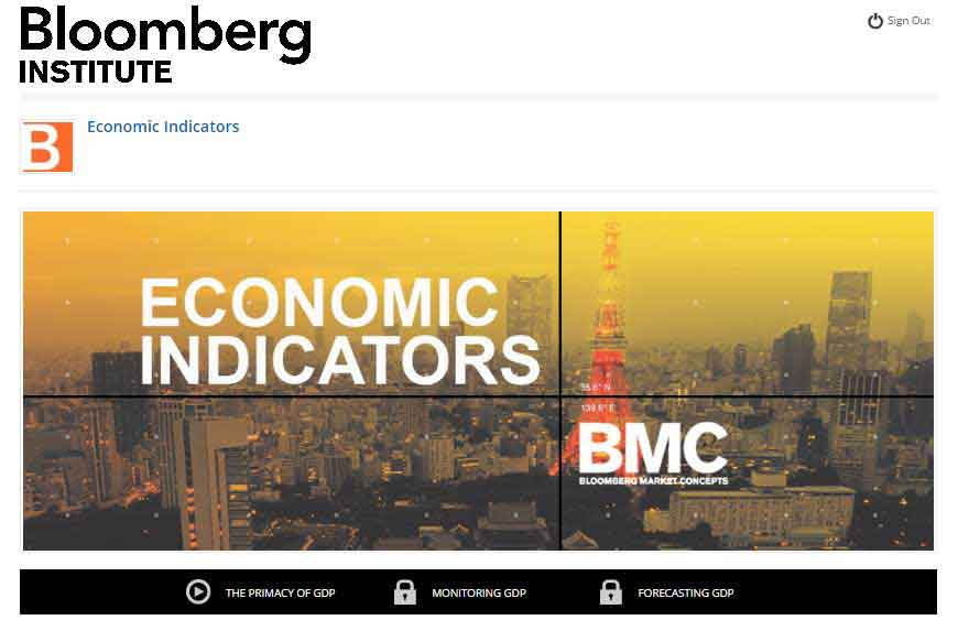 Bloomberg Market Concepts - Economic Indicators