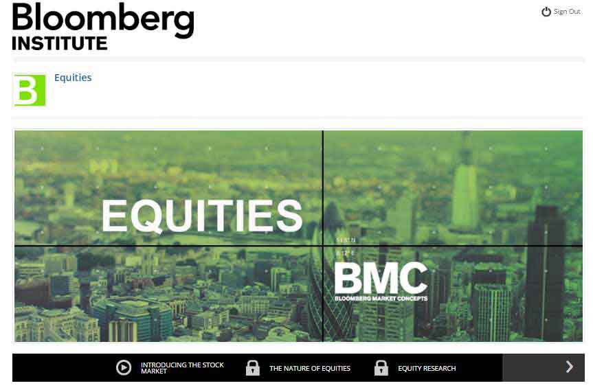 Bloomberg Market Concepts - Equities