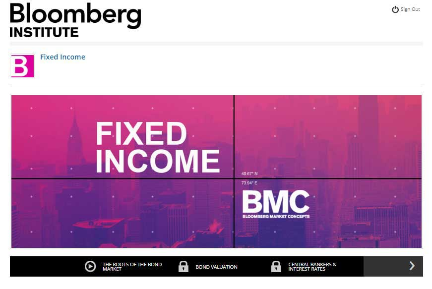 Bloomberg Market Concepts - Fixed Income