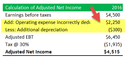 Capitalization vs Expensing - Example Solution 1