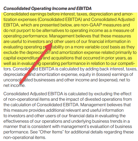Importance of EBITDA