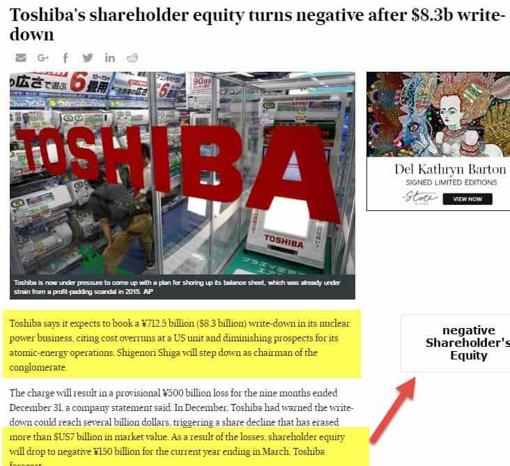 Toshiba Shareholder's Equity 1
