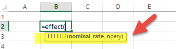 EFFECT - Financial Functions in Excel