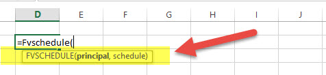 FVSCHEDULE - Financial Functions in Excel