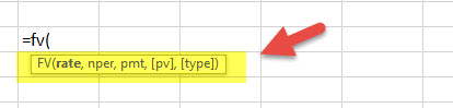Future Value - Financial Functions in Excel