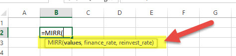 MIRR - Financial Functions in Excel
