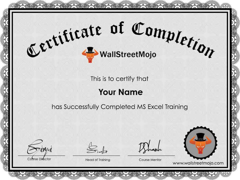 Ms Excel Training Course Online Wallstreetmojo