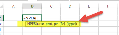 NPER - Financial Functions in Excel