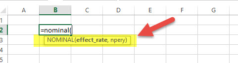 Nominal - Financial Functions in Excel