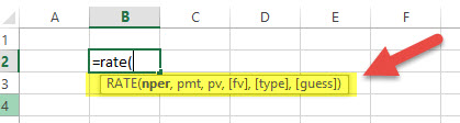 RATE - Financial Functions in Excel