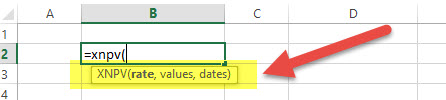 XNPV - Financial Functions in Excel