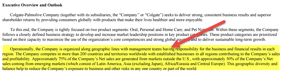 Colgate Management Discussion and Analysis - Executive Overview