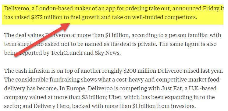 Deliveroo Growth Capital