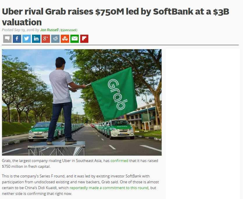 Softbank Grab Growth Capital