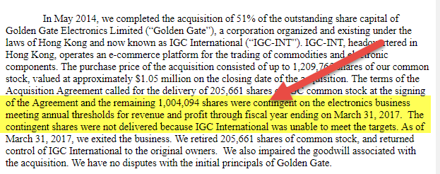Contingent Shares - Indian Globalization