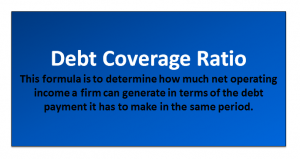 Debt Coverage Ratio Formula | Calculator (with Excel Template)