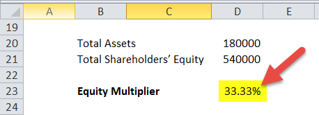 Equity Multiplier in Excel