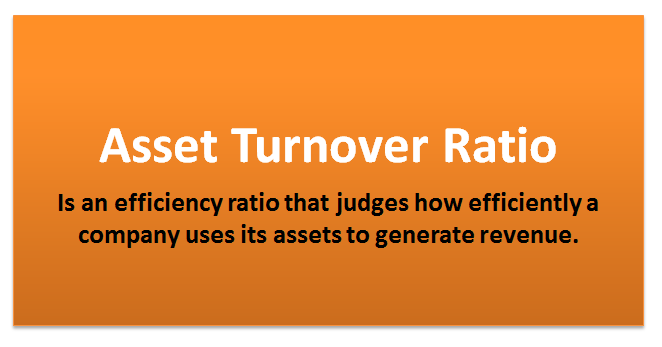 assets turnover ratio