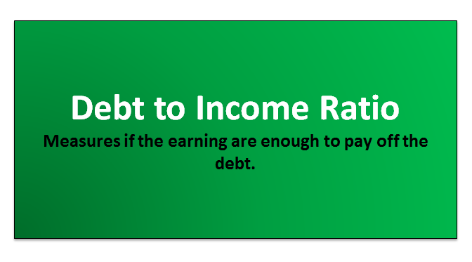 debt to income ratio formula  dti