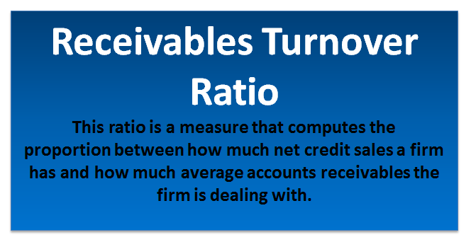 receivables turnover ratio Receivable turnover ratio is interesting for company's owners as it indicates the ability of company's managers to collect customers' debts.