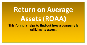 Return on Average Assets ROAA Formula | Calculator (Excel Template)