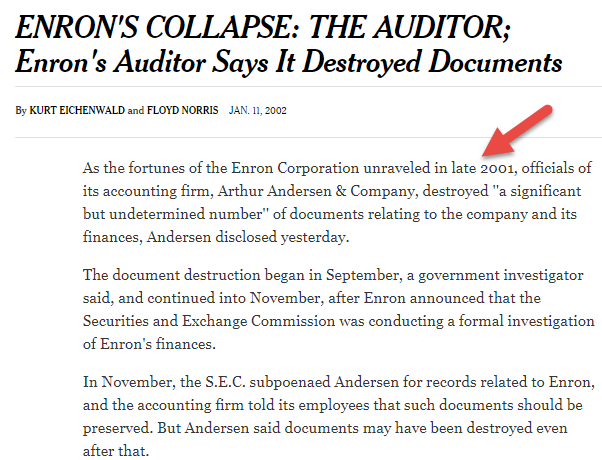 Enron Accounting Scandal
