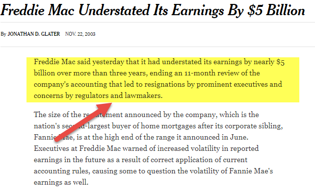 Freddie Mac Accounting Scandal