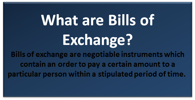 what are bills of exchange