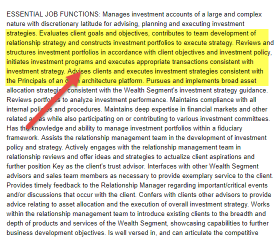 Portfolio manager job descriptions