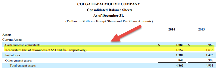 allowance for doubtful accounts Colgate
