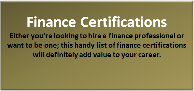 top 10 best finance certifications  list