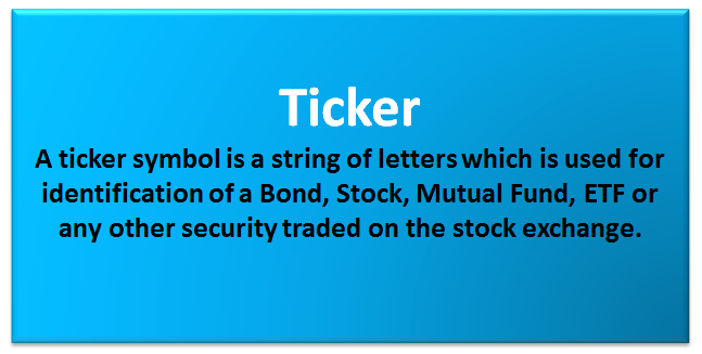 Ticker Symbol | Examples | Find Ticker Symbol (Ticker Lookup)