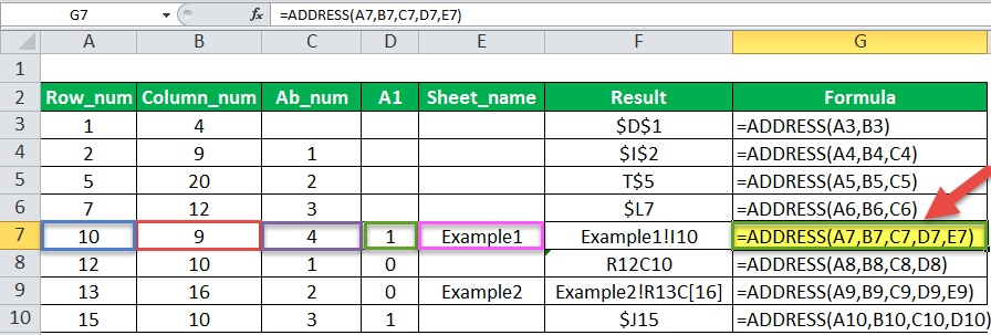 Address Function Example 2