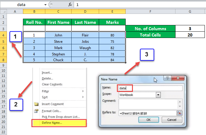 Columns Function Example 4