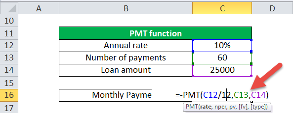 PMT Function (Example-1-2)