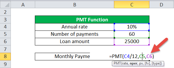 PMT Function (Example-1)