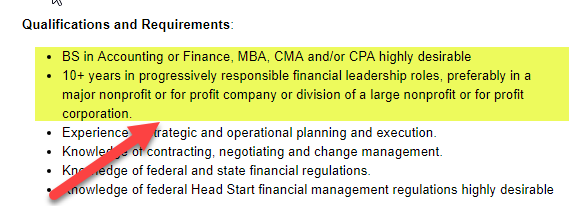 cfo qualifications