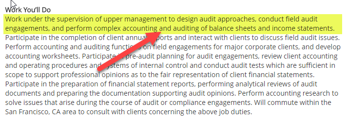 Financial Accounting Career - Auditing