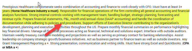 Financial Accounting Career - Finane Manager
