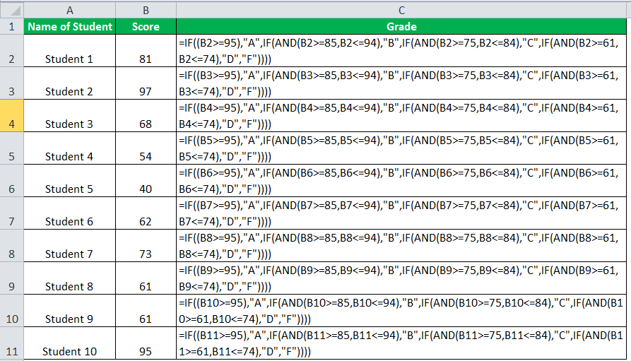 IF Function Example 4-7