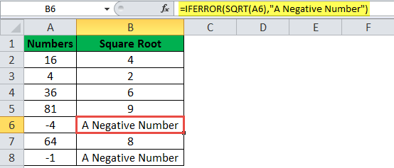 IFERROR Function Example 16