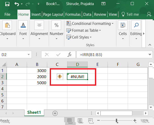 Calculate Irr In Excel Formula Examples How To Use Irr Function