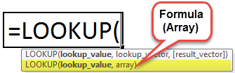 LOOKUP Function