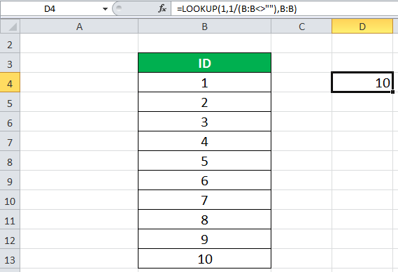 LOOKUP Function Example 3-1